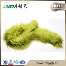 Light Green Lambskin Fur Scarf/Latest Design Sheep Fur Scarves