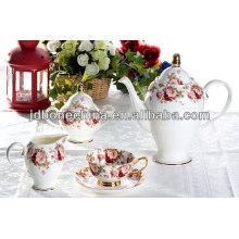 hot selling Russian style coffee tea espresso set cup & saucer dinner ware set ceramic melamine tableware set