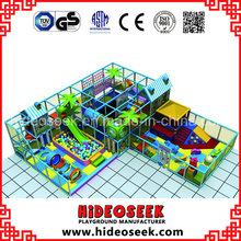 Équipement de terrain de jeu d'intérieur commercial d'enfants de style de château avec le trampoline