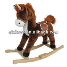 plush rocking horse with music cowboy