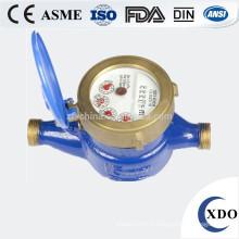 Compteur de l'eau froide (eau chaude) palettes multi-jets roue cadran sec