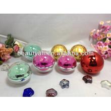 Forma de bola de envases de jarras de acrílico 5ml 15ml 20ml 30ml 50ml 80ml 100ml