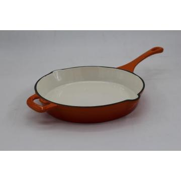 High Quality Red Enamel Skillet