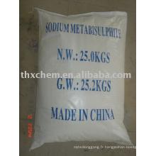 Aliments de métabisulfite de sodium