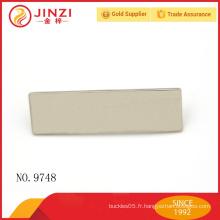 Étiquette de plaque métallique personnalisée en or léger de haute qualité