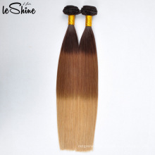 Top Seller New Arrival High Quality Peruvian Ombre Color Human Hair Weft