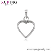34467 xuping jewelry making supplies heart pendant rhodium plated imitation jewellery