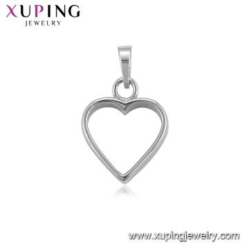 34467 fournitures de bijouterie xuping pendentif coeur bijou imitation rhodié