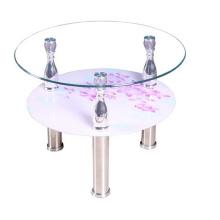 Дешевые стекло стороне таблицы/журнальный столик/домашняя мебель