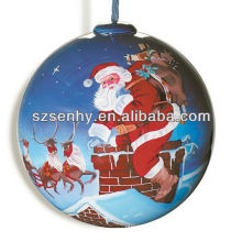 ornamento de la bola de la Navidad del vidrio claro al por mayor