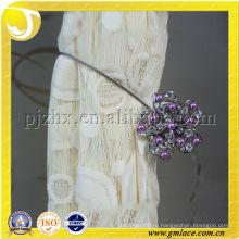 Декоративный занавес с фиолетовым бисером