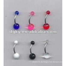 Acryl UV Ball Mode gefälschte Bauchnabel Ring