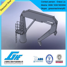 folding boom ship crane marine crane boat crane
