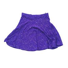 Используемая женская шелковая юбка половинной длины