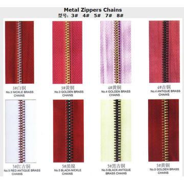 Cadenas de Metal Zippers