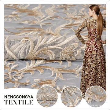 Bonne qualité mode style personnalisé couleur florale machine saree broderie dentelle