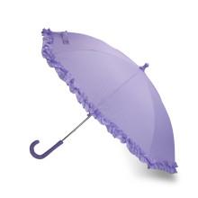 Ручной открытый Frilly прямой зонтик (BD-54)