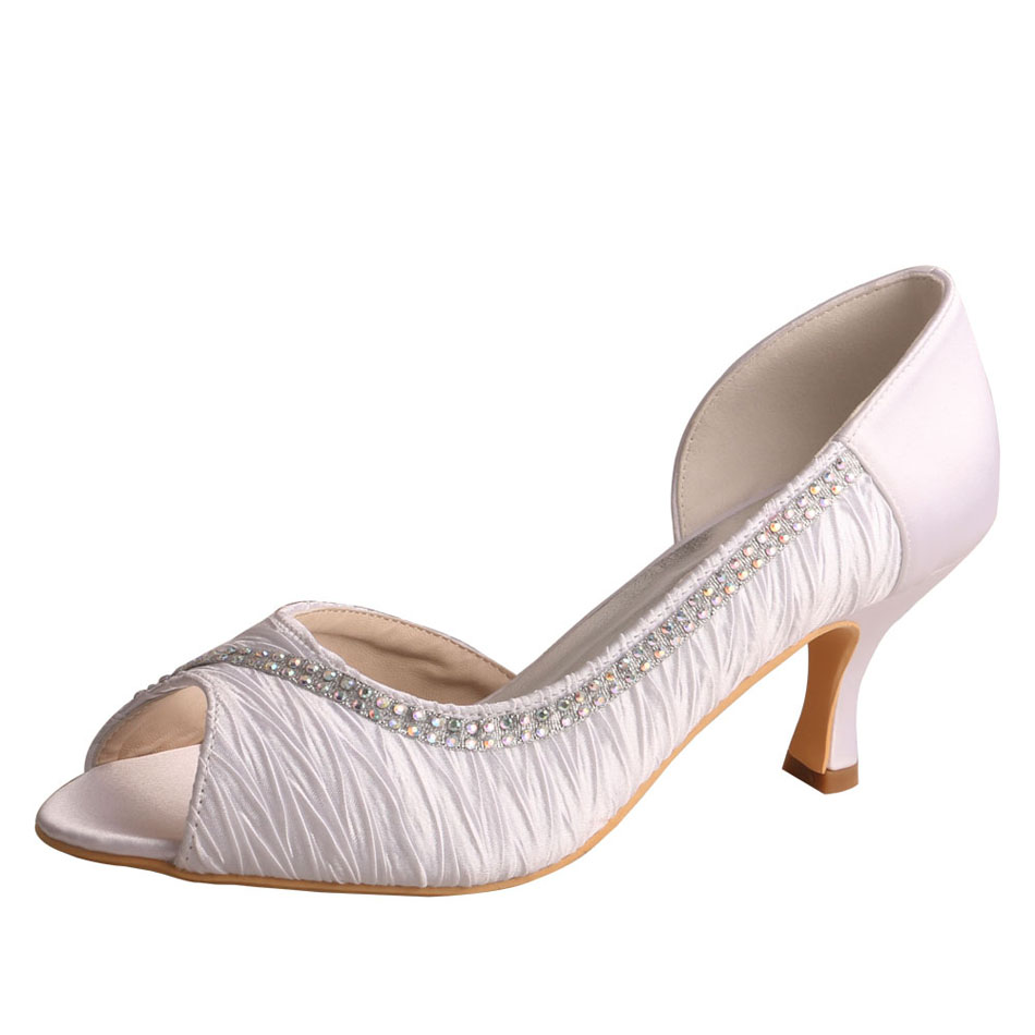 Mid Heel Wedding Shoes