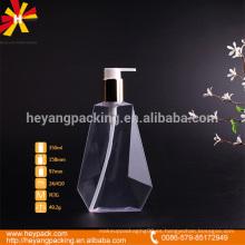 Polígono transparente PETG botella de plástico 330ml