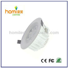 7W downlight white print aluminum