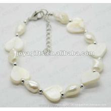 Art und Weise 2012 Joya weiße Herz-Perlen-Shell-wulstige Fußkettchen