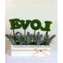 PE / Plastic Artificial Lavender Flower For Decoration
