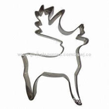 Reindeep Shape Stainless Steel Christmas Cookie Cutter