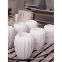 Джазовая белая мраморная ваза