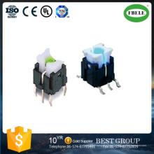 6*6 мм прямой Контактный переключатель с свет Сенсорный Выключатель (FBELE)