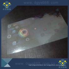 Transparenter selbstklebender Hologramm-Aufkleber für Karte