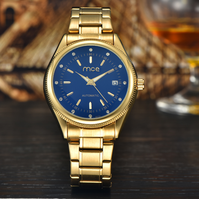create your own brand golden mechanical movement watch