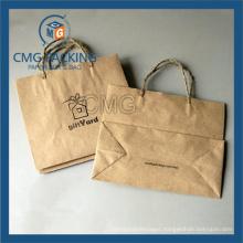 Antique Kraft Paper Bag with Paper Twist Handle