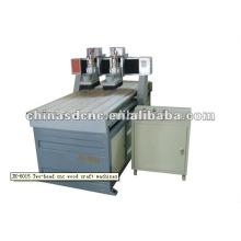 JK-6015 deux têtes cnc machines à l'artisanat en bois