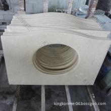 Artificial Marble Quartz Stone Bathroom Vanity Top