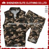Wholesale Custom Cheap Camo Sleeveless Tracksuits for Men
