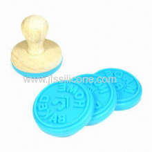 Custom Silicone Cookie/cake Stamp With Wooden Handle