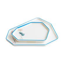 Elegant High-end Restaurant Irregular Plate Melamine Thickened Anti-fall Commercial Luxury Tableware Plate Set