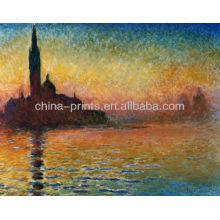 Por do sol em Veneza por Claude Monet