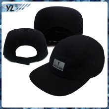 100% полиэстер сплетенный значок этикетки пять панелей стиль шапки
