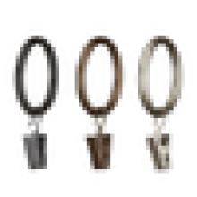 Anel de cortina de metal decorativo preto, anel de cortina de metal 50 / 60mm, anel de cortina de metal