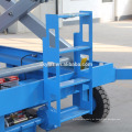 Elevador de tesoura hidráulico portátil móvel de 14m