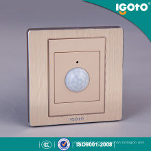Igoto China Fabricante Atacado Escovado Alumínio Luxry Som Senory Wall Switches