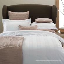 100% Coton / T / C 50/50 Satin Vérifier Hôtel / Home Linge de Lit Textile (WS-2016347)