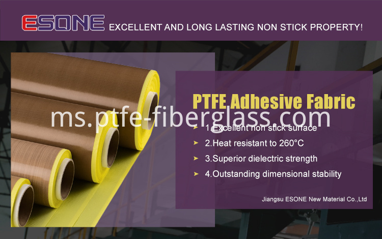 Heat resistant PTFE adhesive fabric