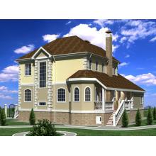 Leichte Stahlhaus Villa mit verschiedenen Layouts