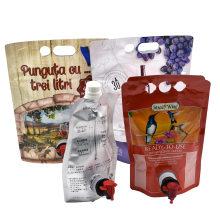 Water, Coffee Juice, Wine Liquid Tap Asceptic Bag in Box Dispense