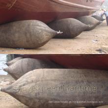 Airbag de borracha marinha inflável certificada ISO14409 para o lançamento do navio, embarcadouro seco