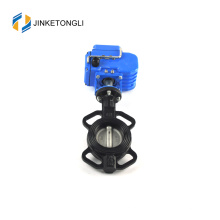 Epdm lined center line german wafer electric 10 butterfly valve double flanged