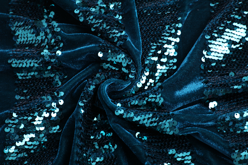 3mm Sequin Velvet Embroidery Fabric
