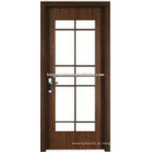 WPC porta de banheiro de vidro de madeira